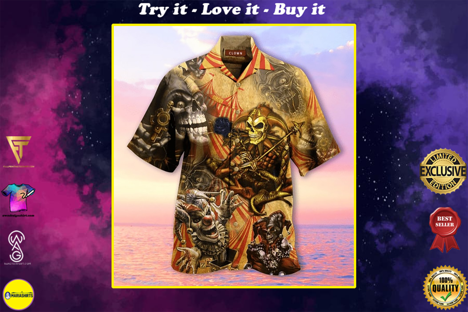 by blood a king in heart a clown all over printed hawaiian shirt