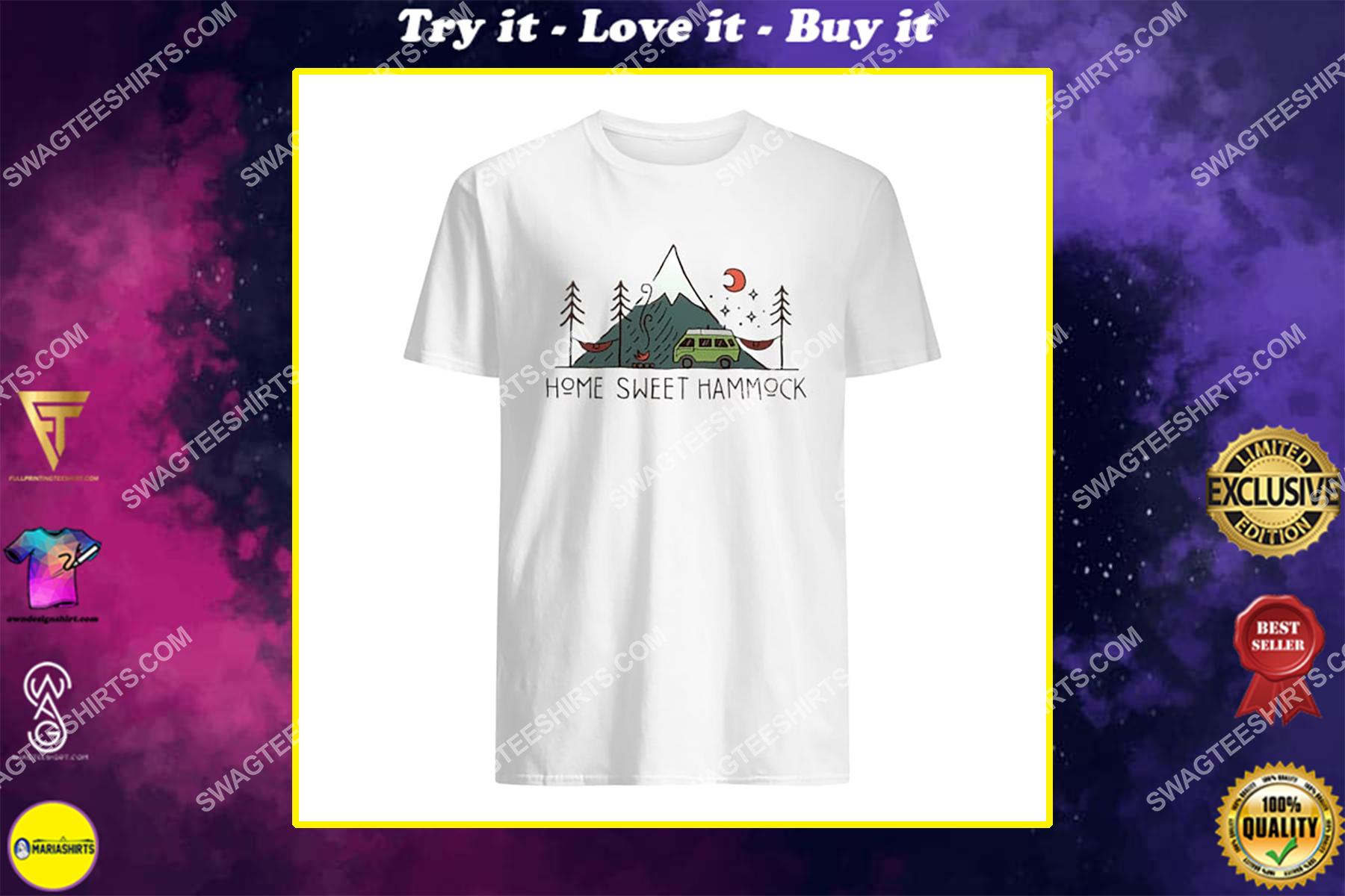 camping home sweet hammock for camper shirt