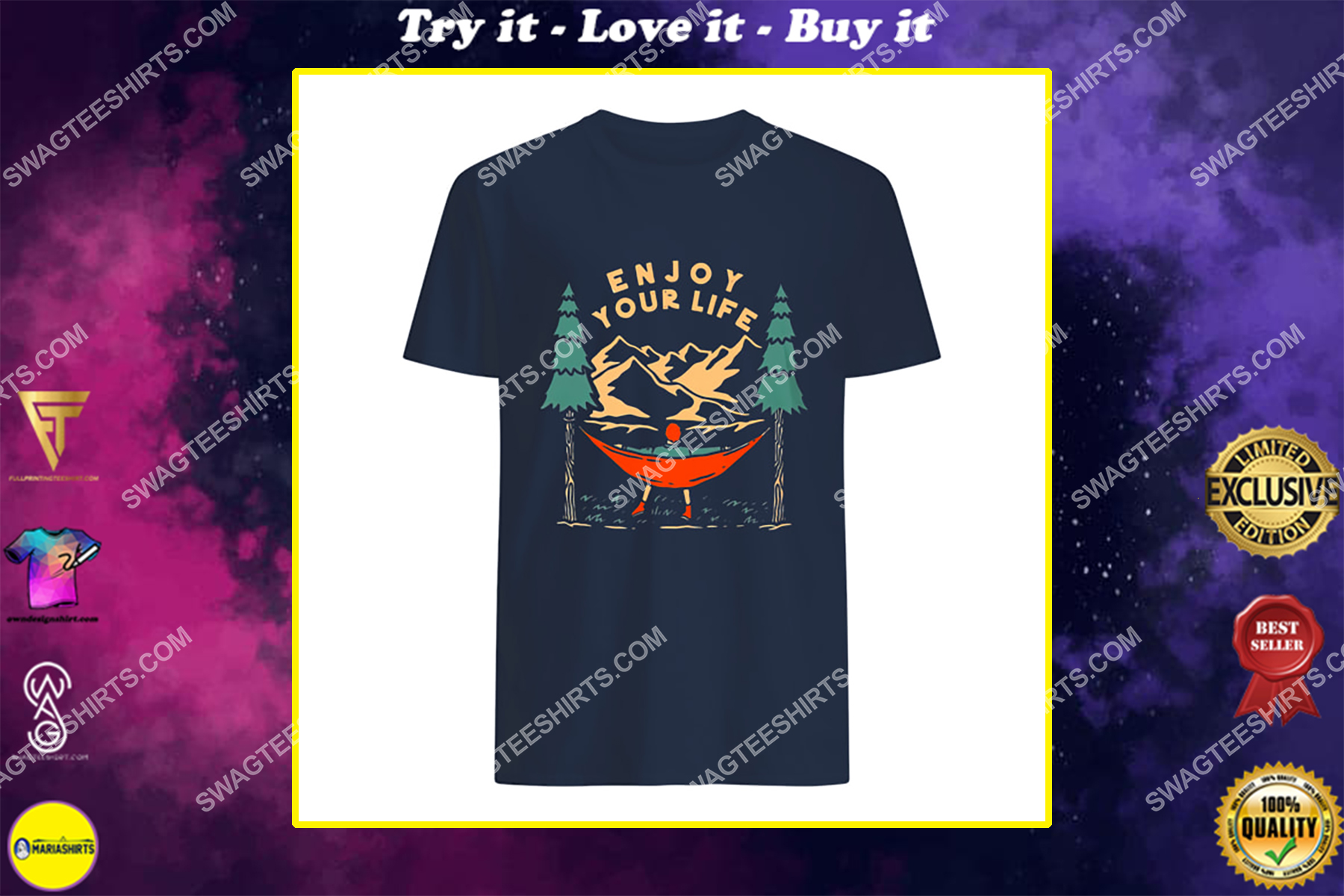 camping in the forest enjoy your life for camper shirt