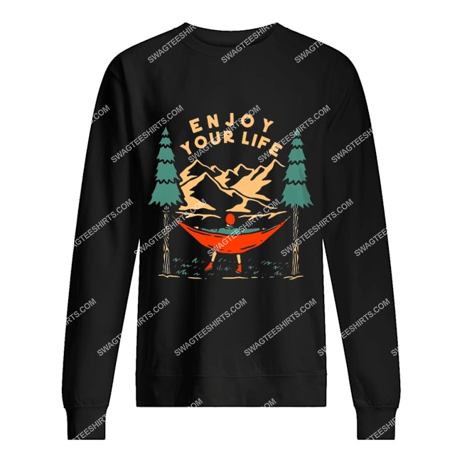 camping in the forest enjoy your life for camper sweatshirt 1