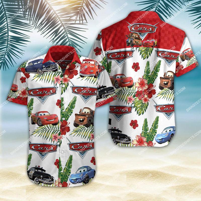 cars movie all over print hawaiian shirt 2