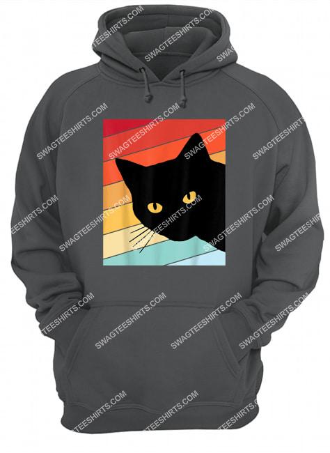 cat lover retro cat hoodie 1