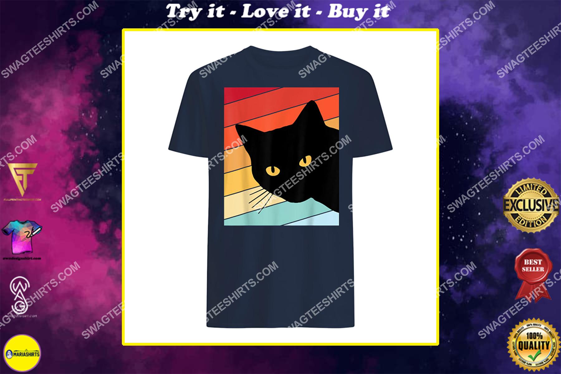 cat lover retro cat shirt