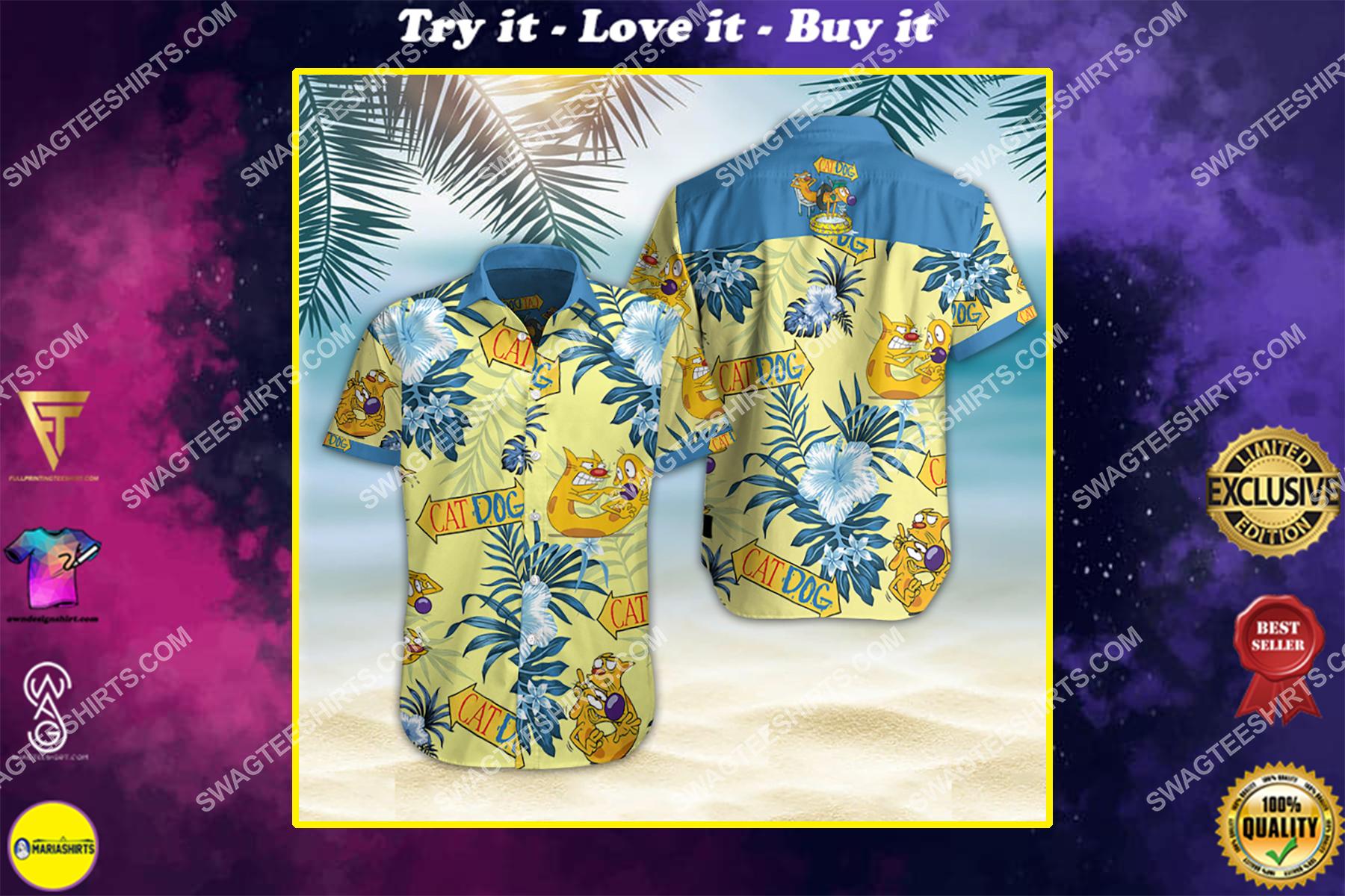 catdog movie all over print hawaiian shirt