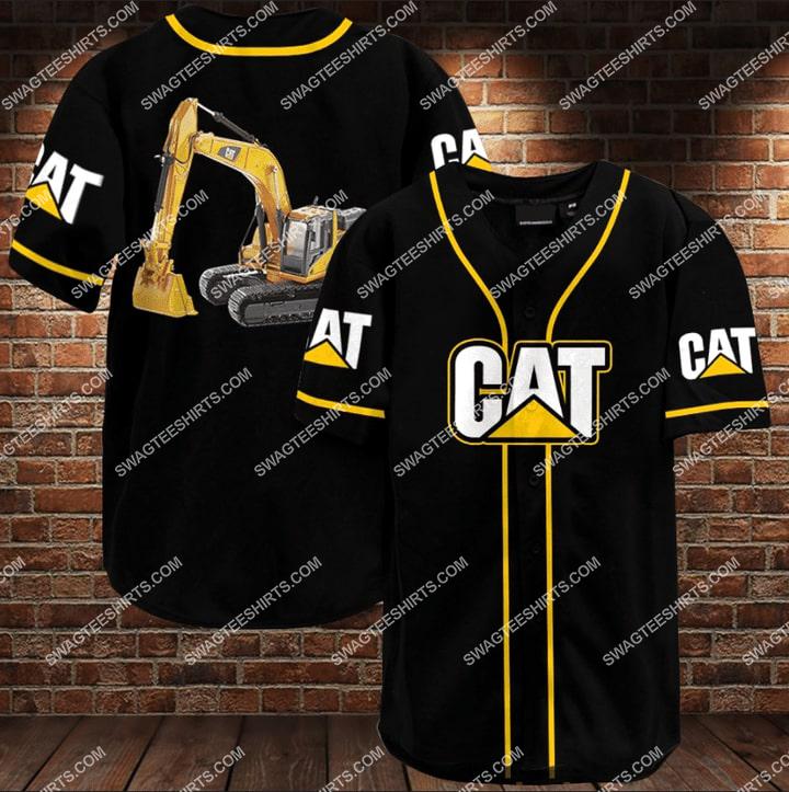caterpillar all over printed baseball shirt 1