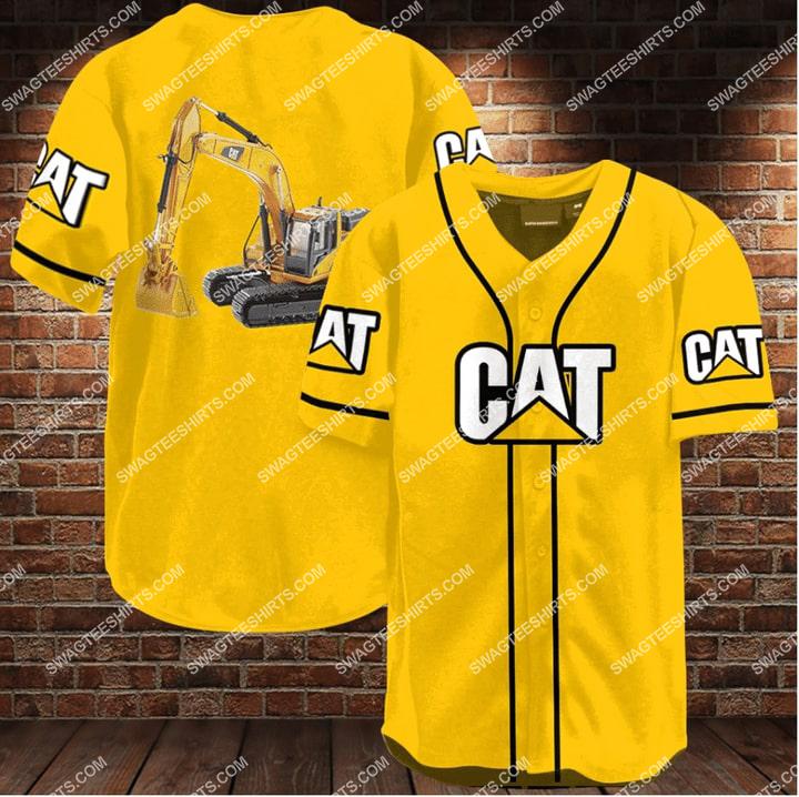 caterpillar company all over printed baseball shirt 1 - Copy