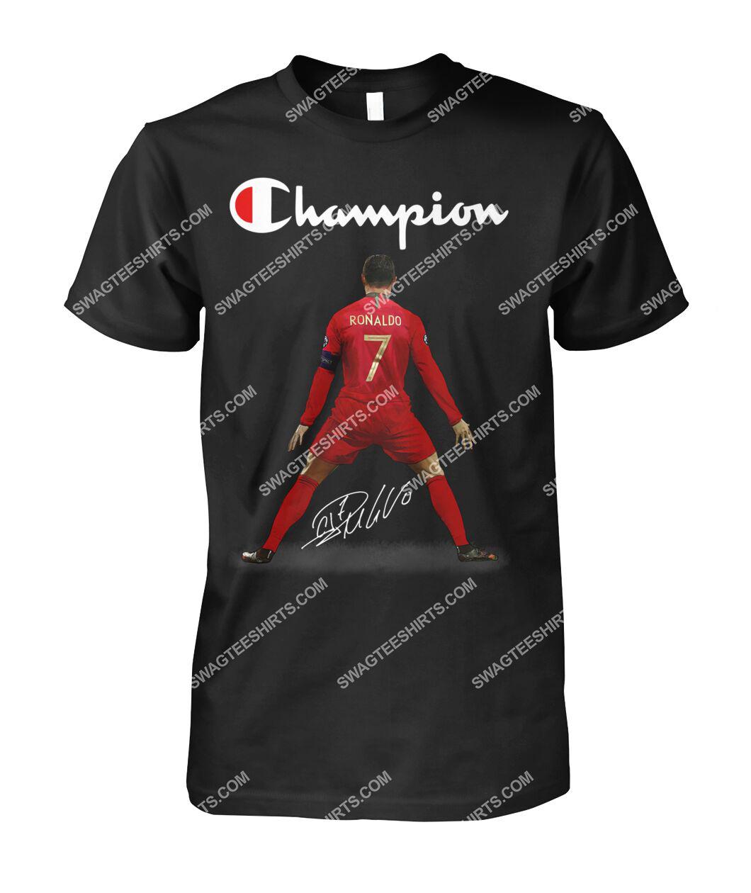 champion cristiano ronaldo signature tshirt 1