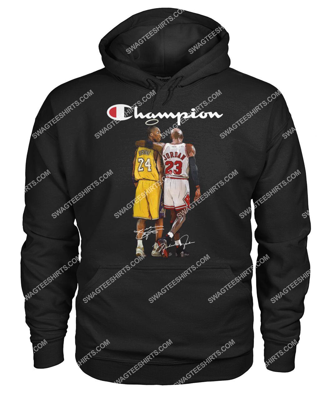 champion kobe bryant and michael jordan signature hoodie 1