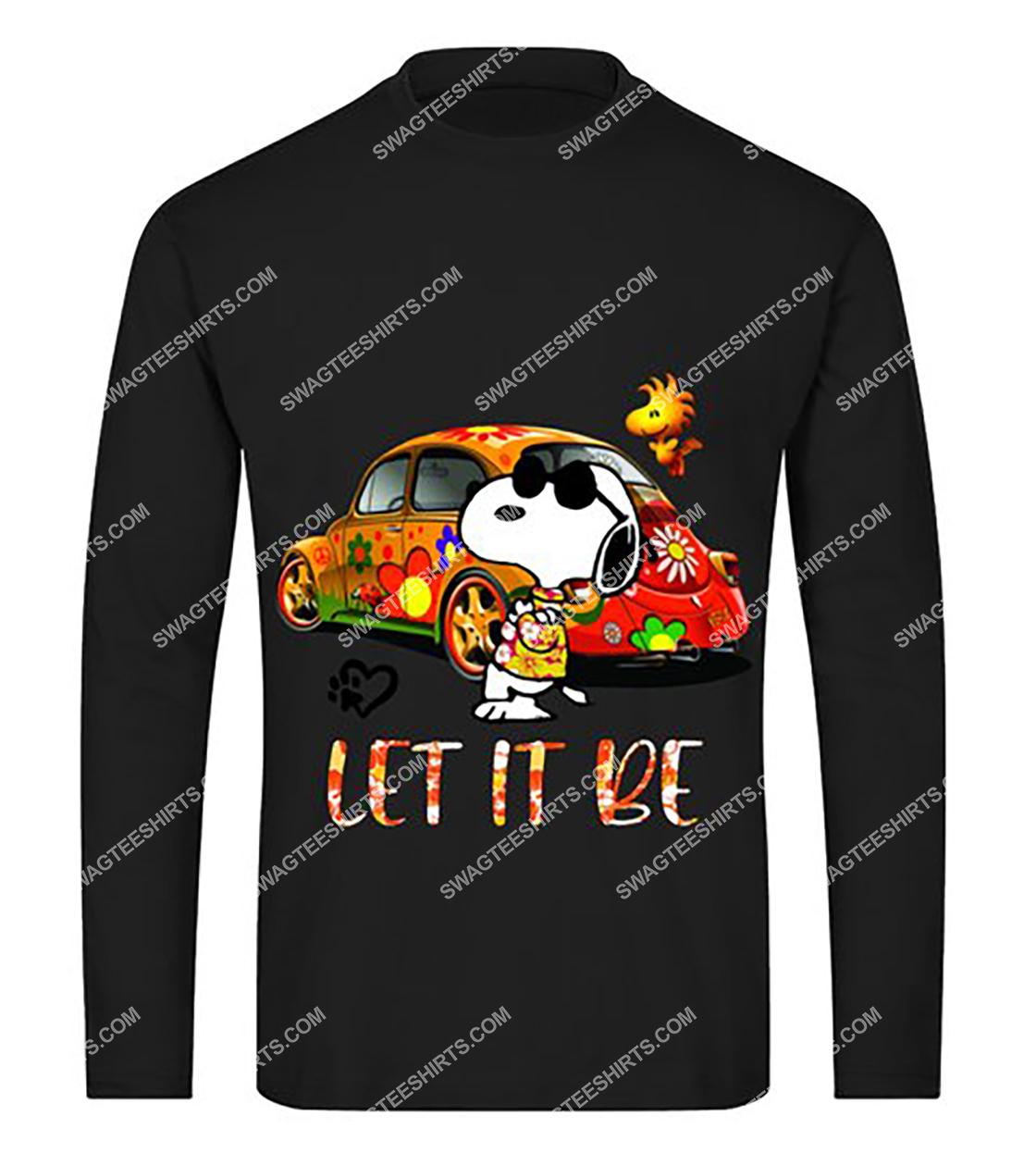 charlie brown snoopy let it be sweatshirt 1