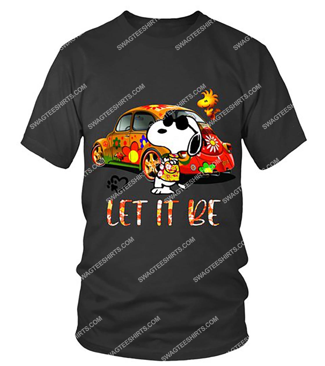 charlie brown snoopy let it be tshirt - Copy 1