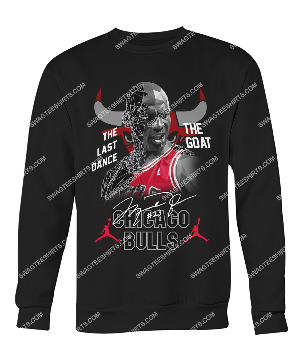 chicago bulls michael jordan the last dance the goat signature sweatshirt 1