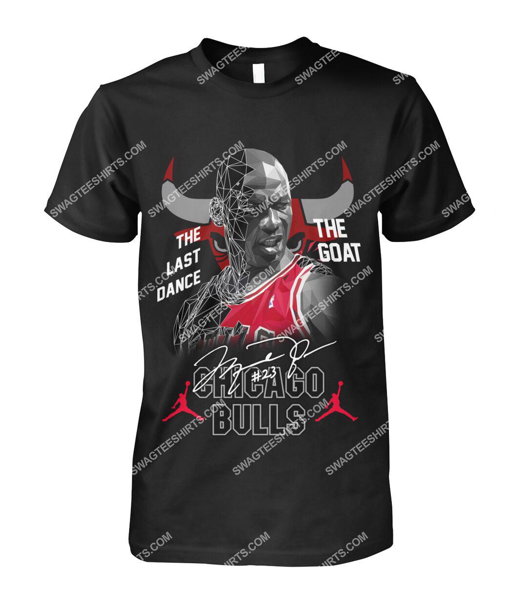 chicago bulls michael jordan the last dance the goat signature tshirt 1
