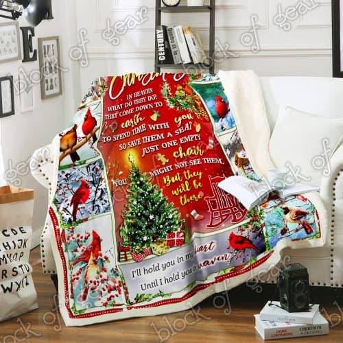 christmas cardinal bird christmas in heaven blanket 3
