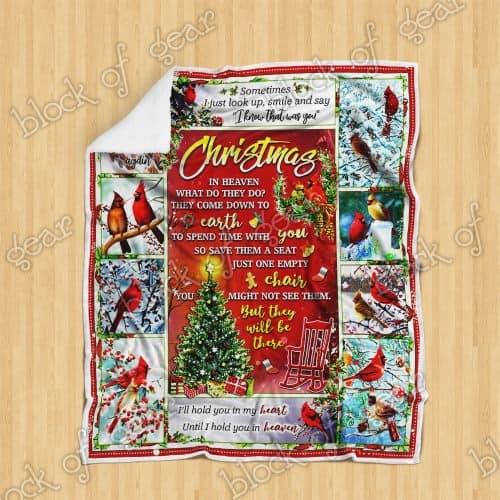christmas cardinal bird christmas in heaven blanket 4