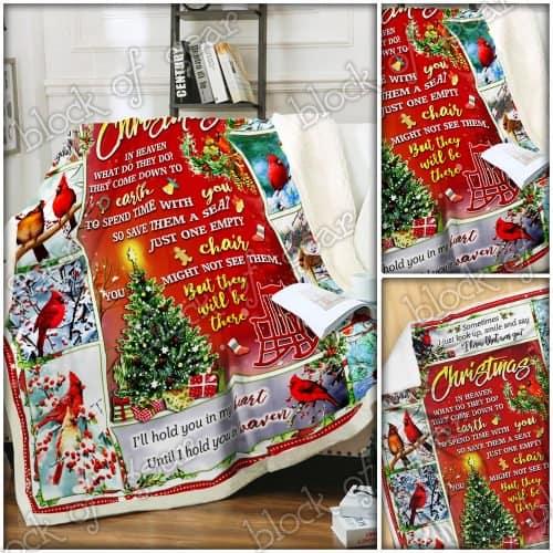 christmas cardinal bird christmas in heaven blanket 5