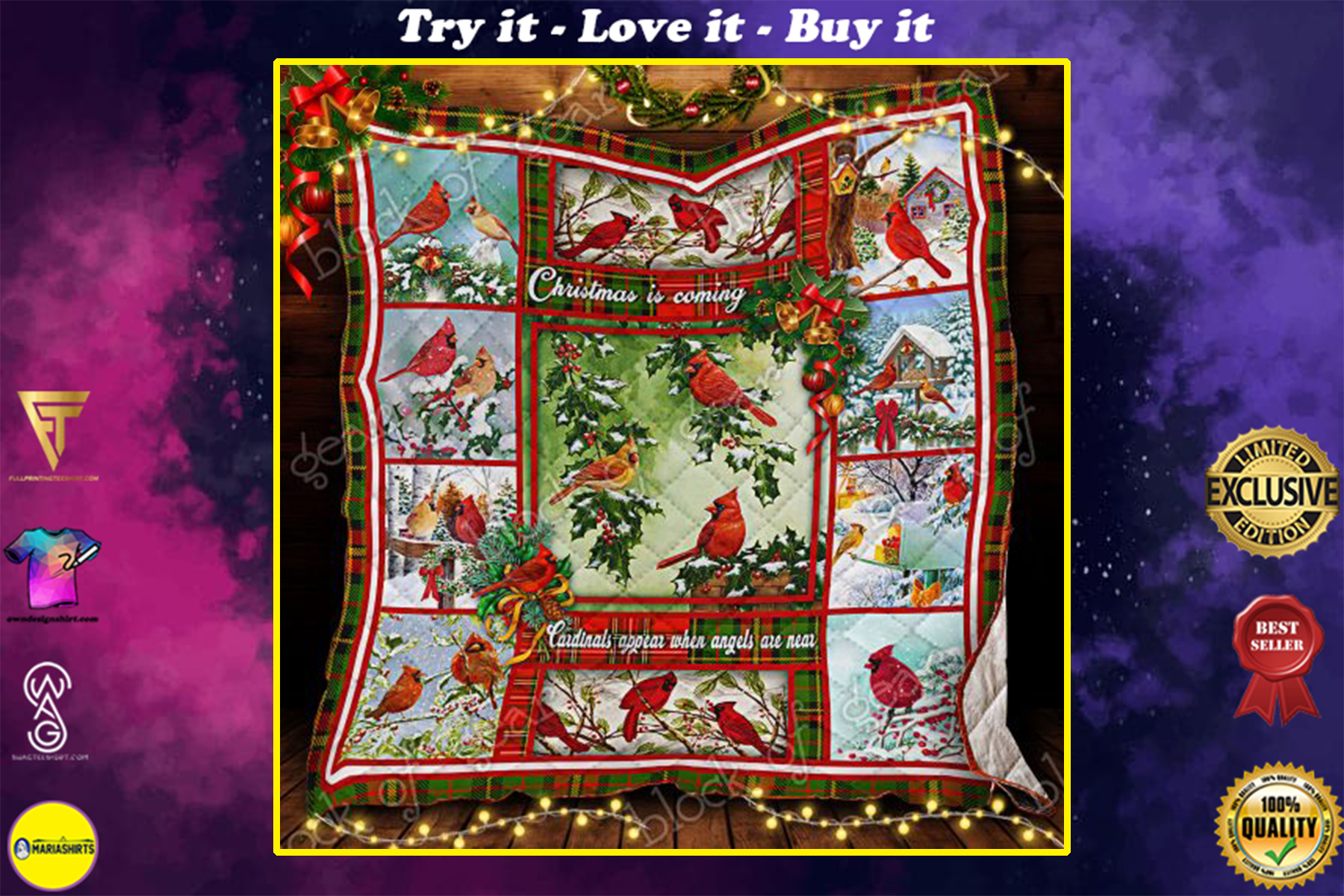 christmas cardinals bird christmas is coming cardinals appear when angels are near quilt