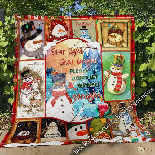 christmas snowflakes star light star bright please dont let me melt tonight quilt 4