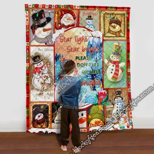 christmas snowflakes star light star bright please dont let me melt tonight quilt 5