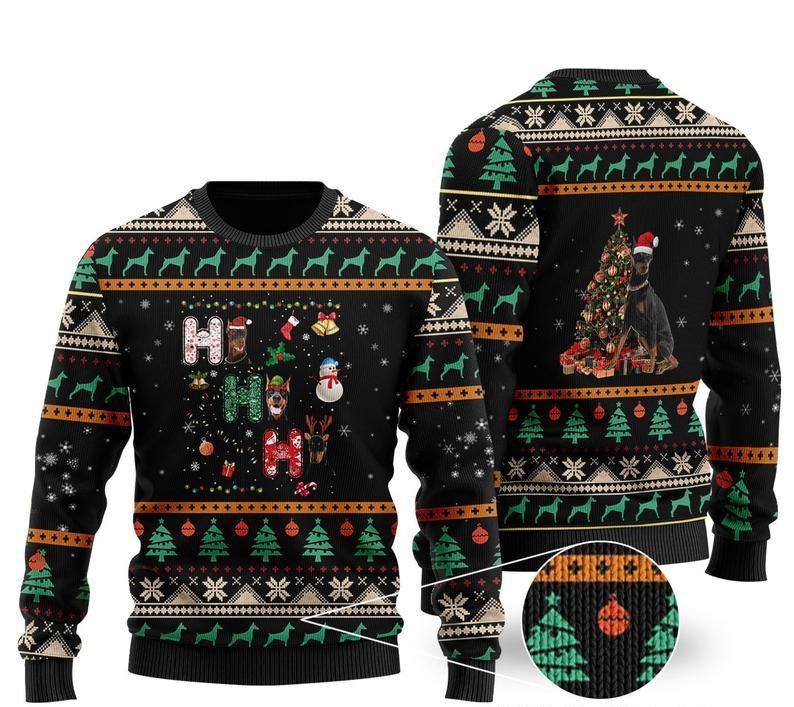 christmas time doberman all over printed ugly christmas sweater 2 - Copy (2)