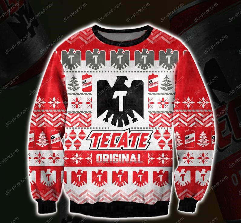 christmas time tecate beer all over printed ugly christmas sweater 2 - Copy (2)