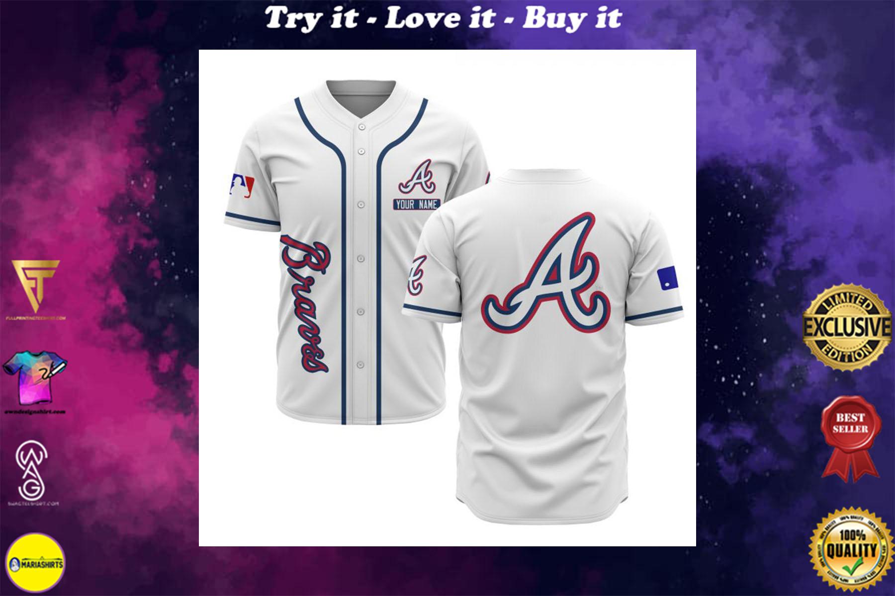 custom name atlanta braves baseball shirt