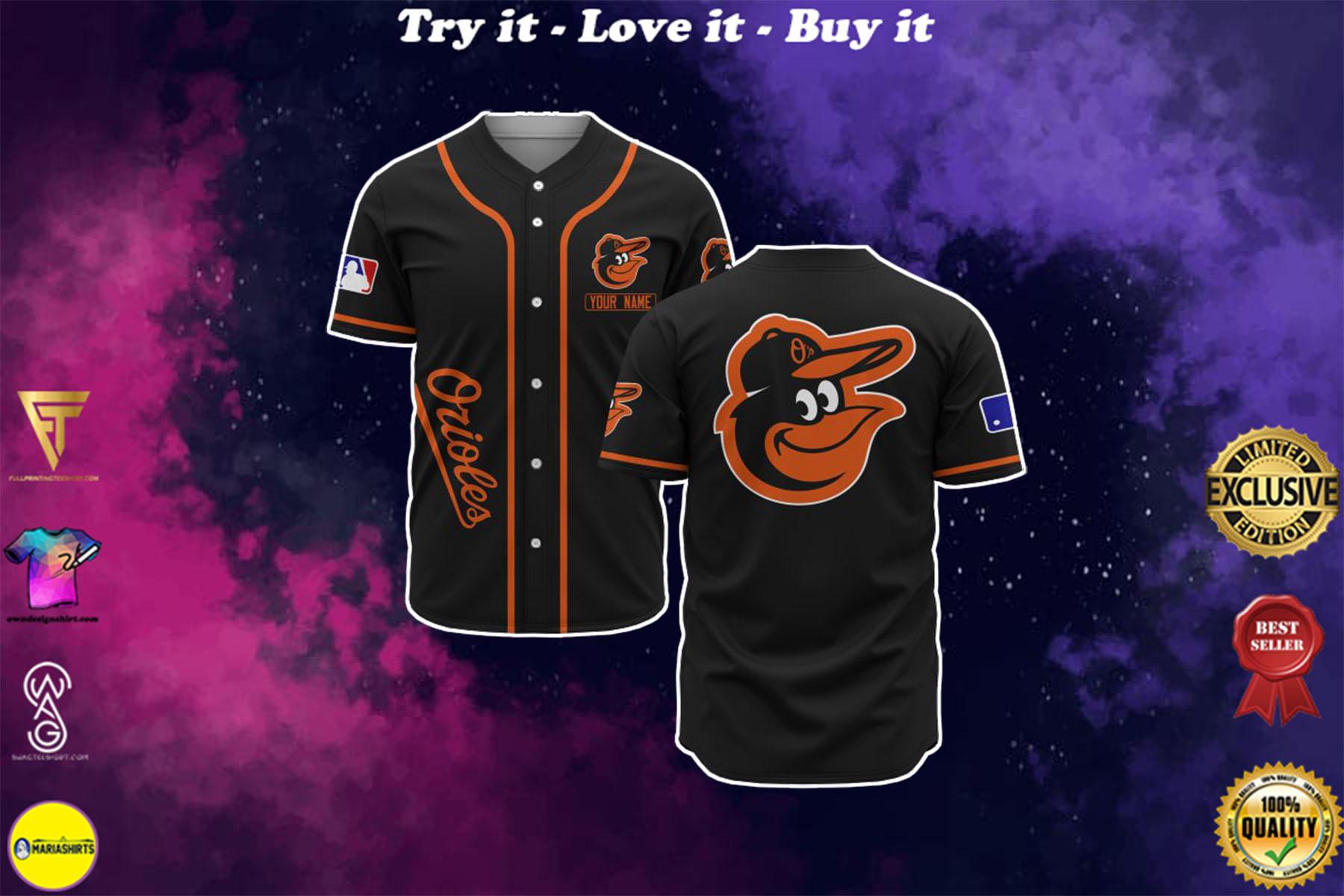 custom name baltimore orioles baseball shirt