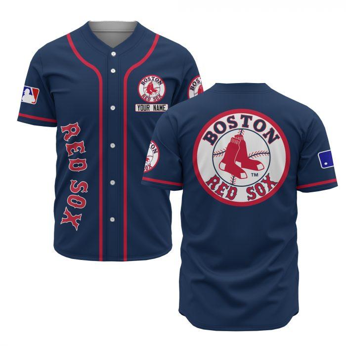 custom name boston red sox baseball shirt 1