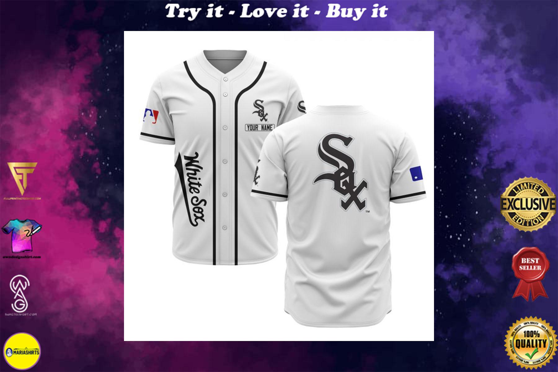 custom name chicago white sox baseball shirt