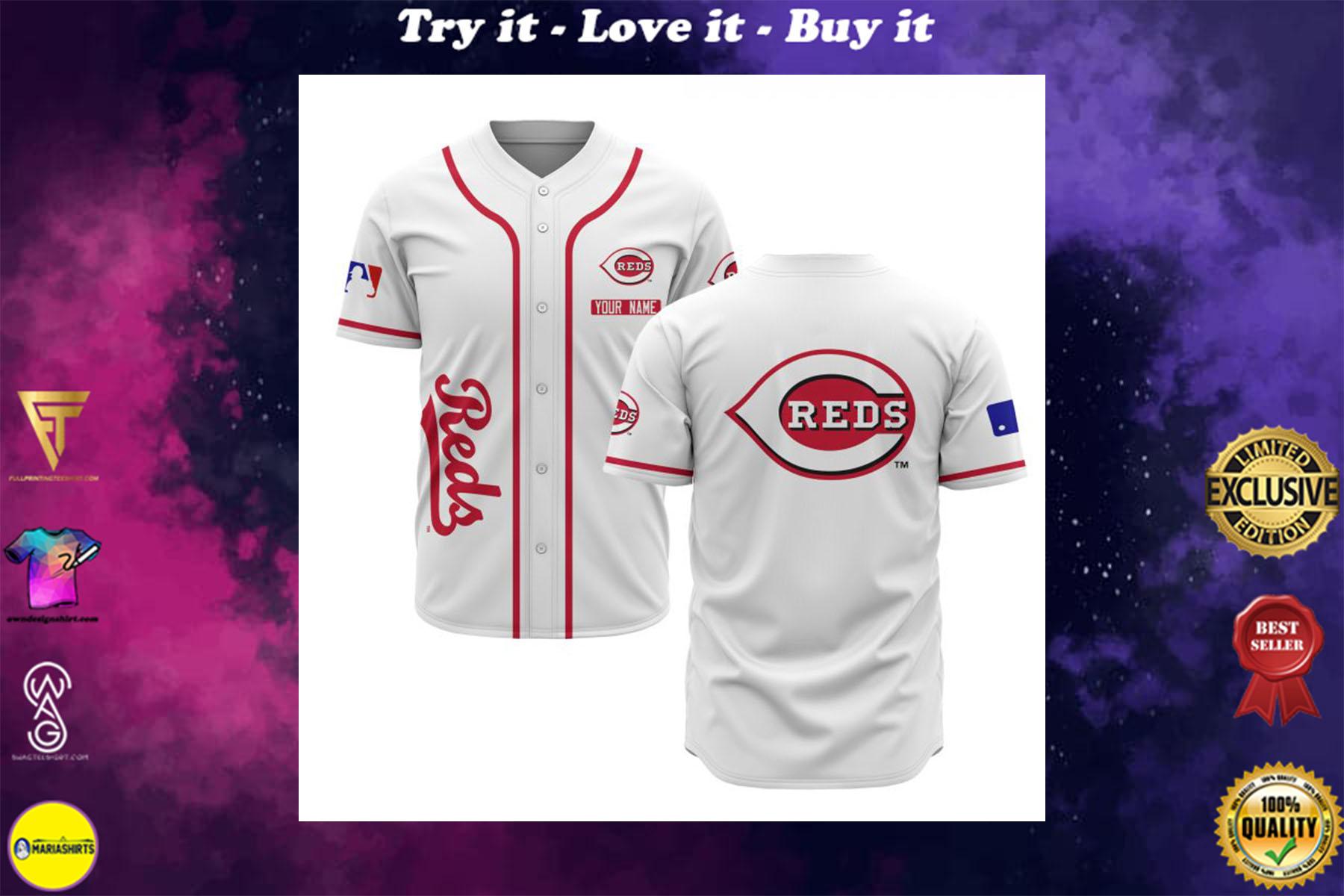 custom name cincinnati reds baseball shirt