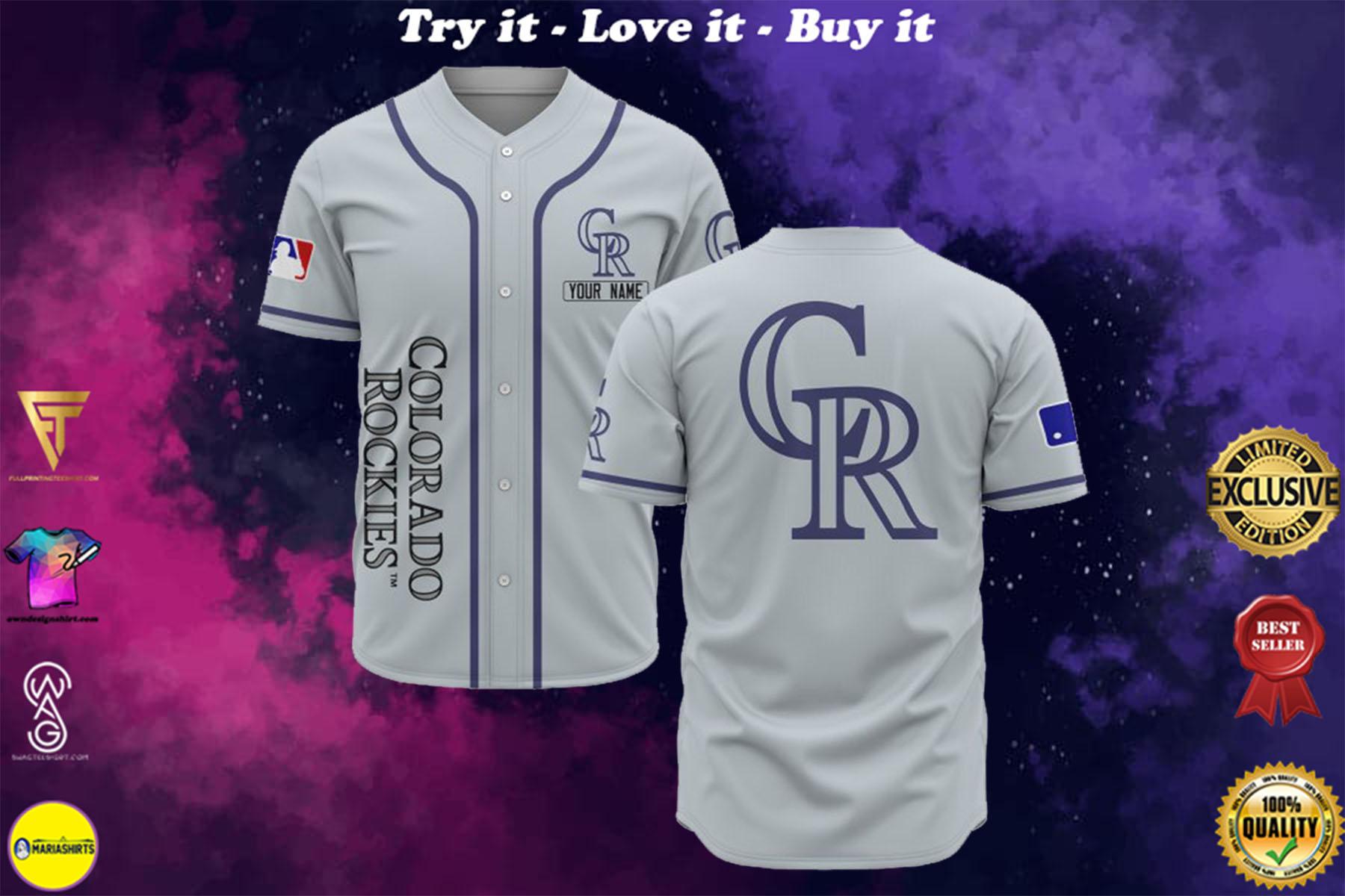 custom name colorado rockies baseball shirt