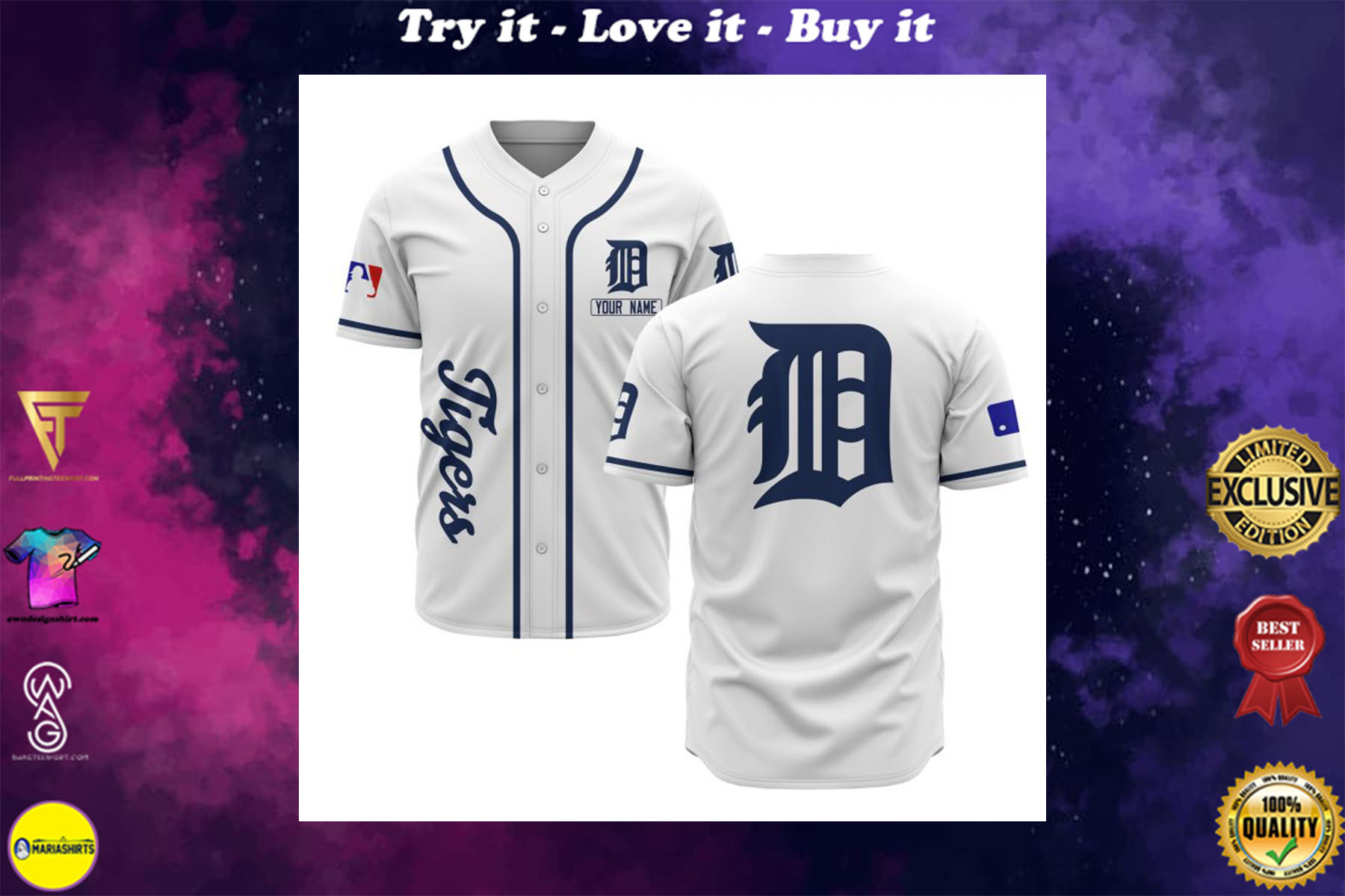 custom name detroit tigers baseball shirt
