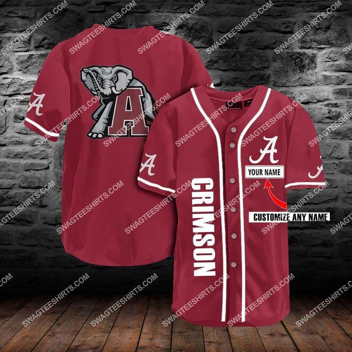 custom name football team alabama crimson tide full printing baseball jersey 1(1) - Copy