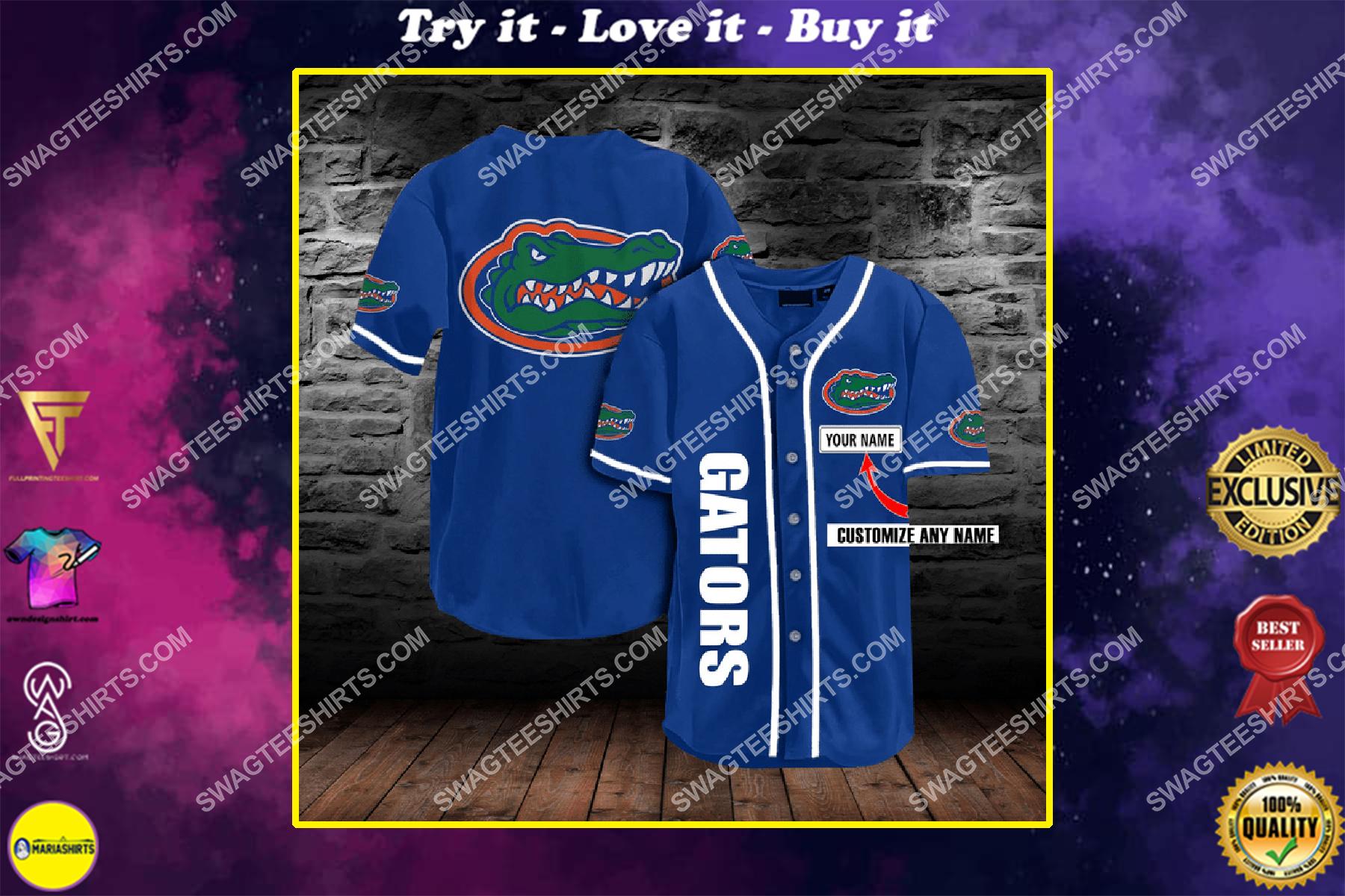 custom name football team florida gators ull printing baseball jersey