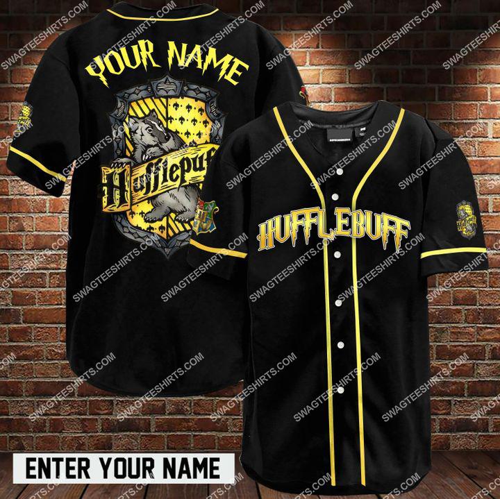 custom name harry potter hufflepuff full printing baseball shirt 1