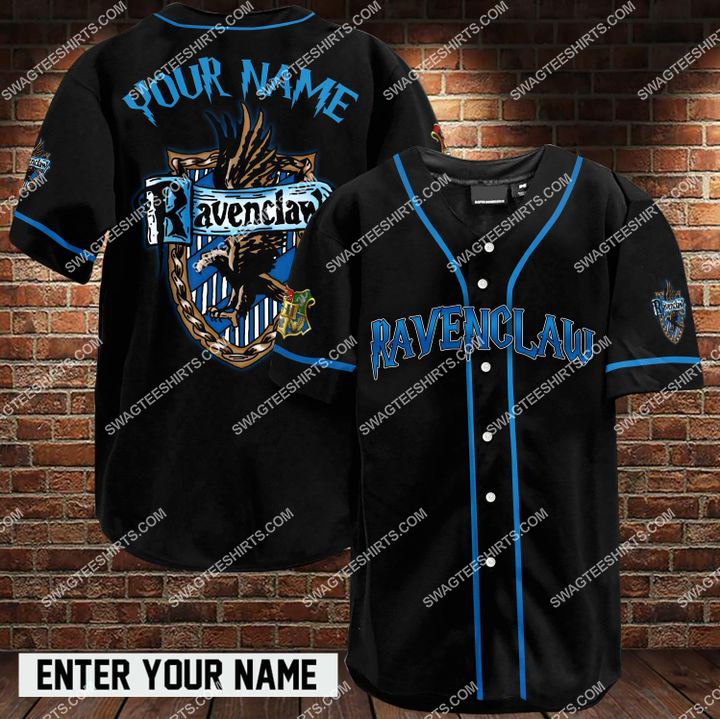 custom name harry potter ravenclaw full printing baseball shirt 1