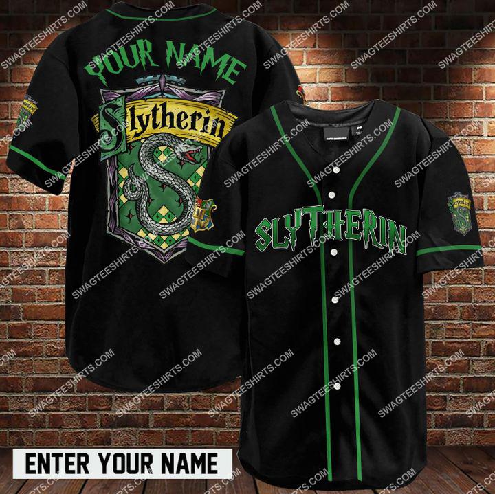 custom name harry potter slytherin full printing baseball shirt 1 - Copy