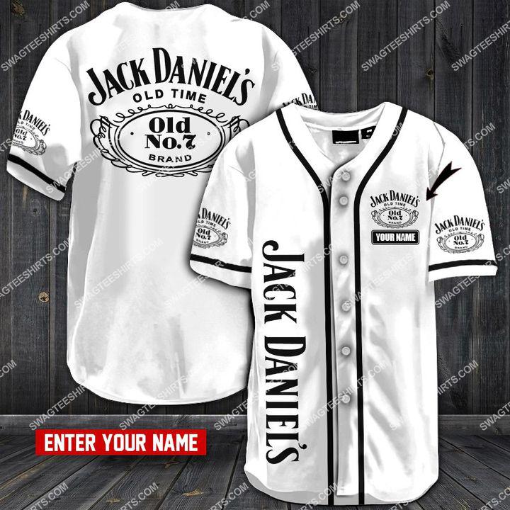 custom name jack daniels full printing baseball shirt 1