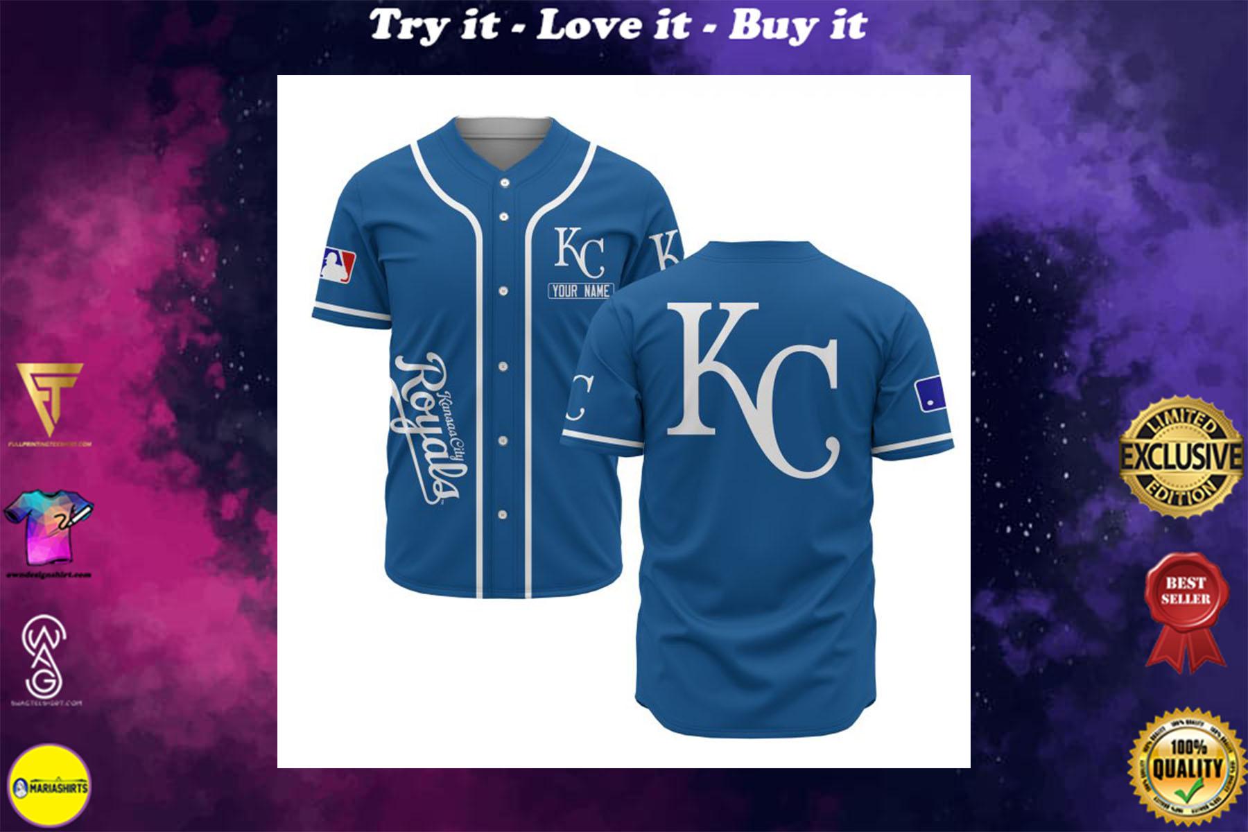 custom name kansas city royals baseball shirt