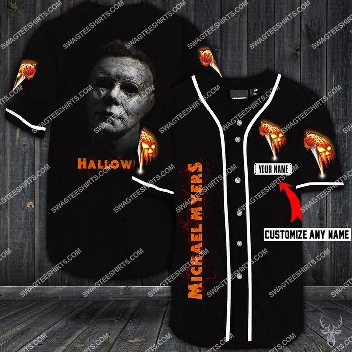custom name michael myers halloween full printing baseball shirt 1 - Copy
