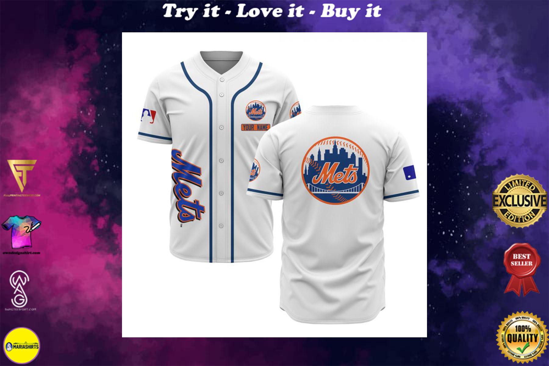 custom name new york mets baseball shirt