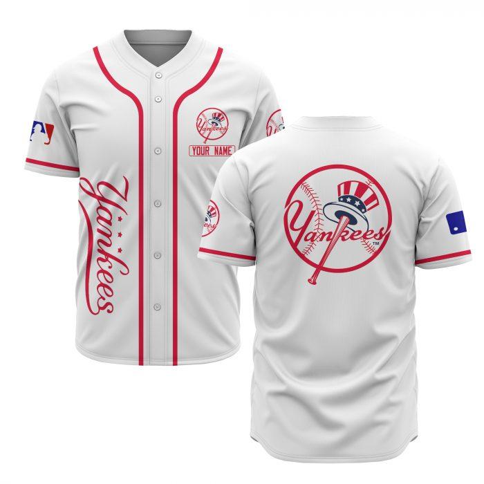 custom name new york yankees baseball shirt 2