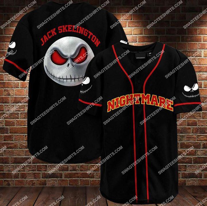 custom name nightmare before christmas baseball shirt 1