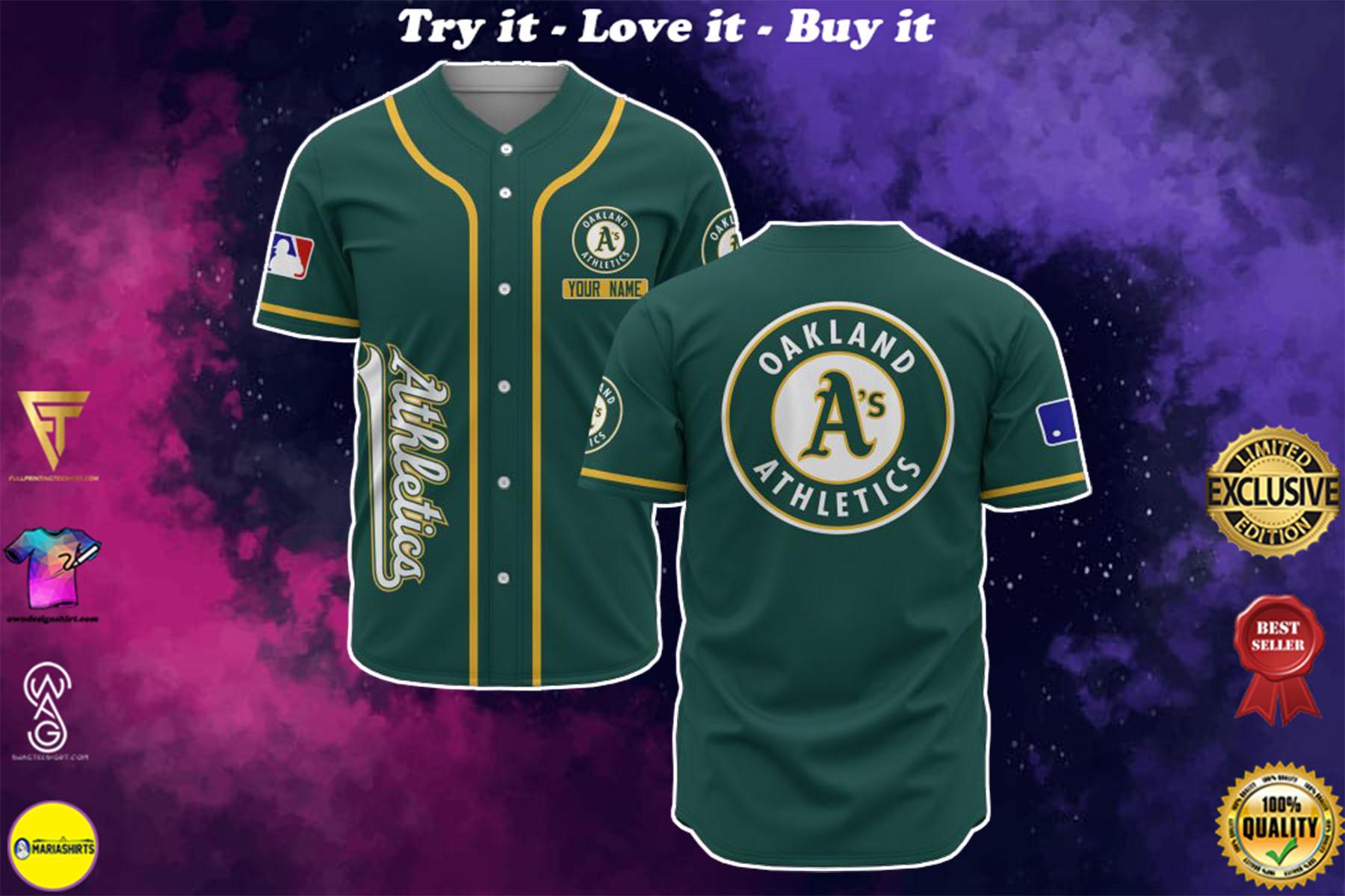 custom name oakland athletics baseball shirt