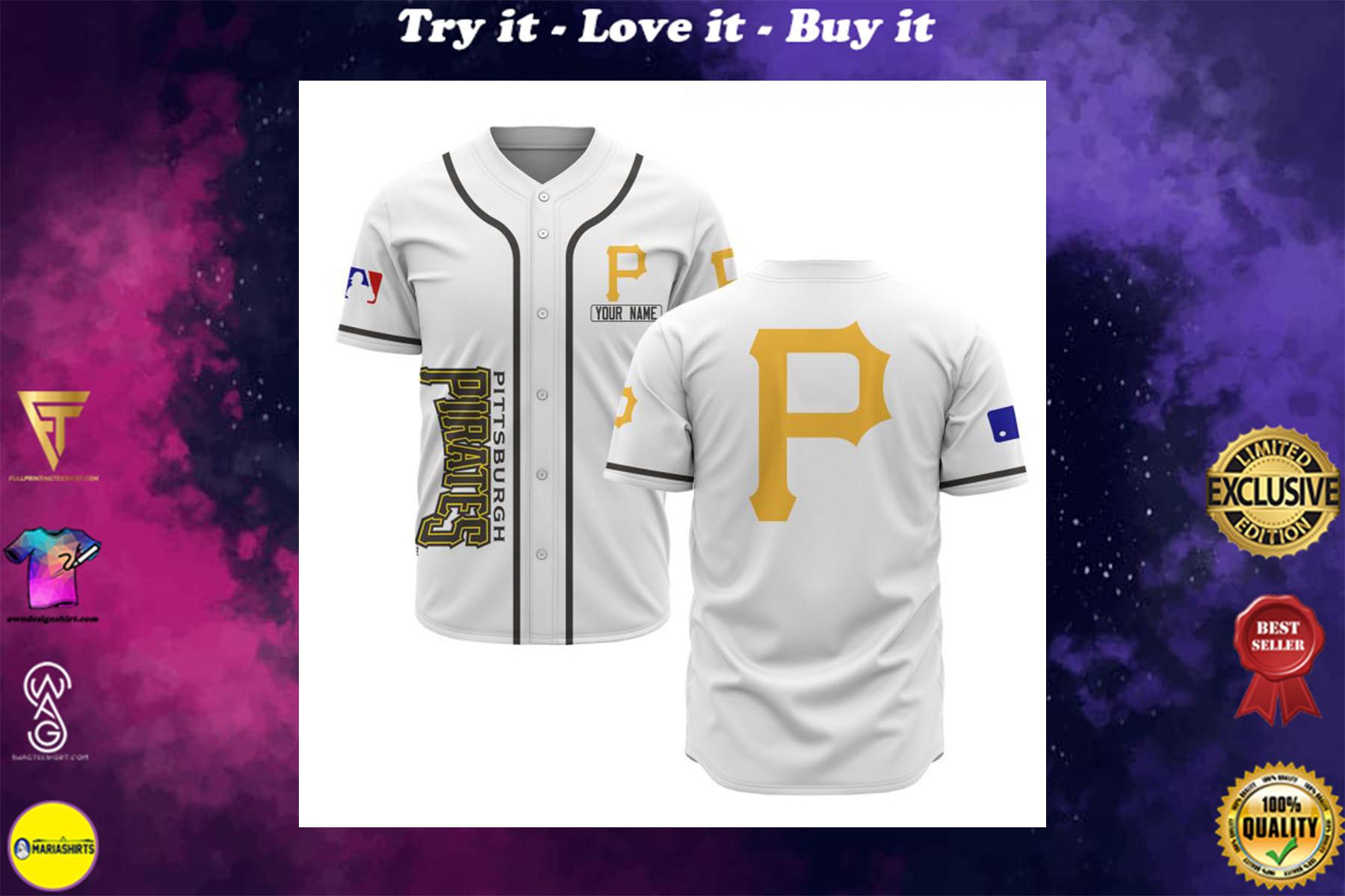 custom name pittsburgh pirates baseball shirt