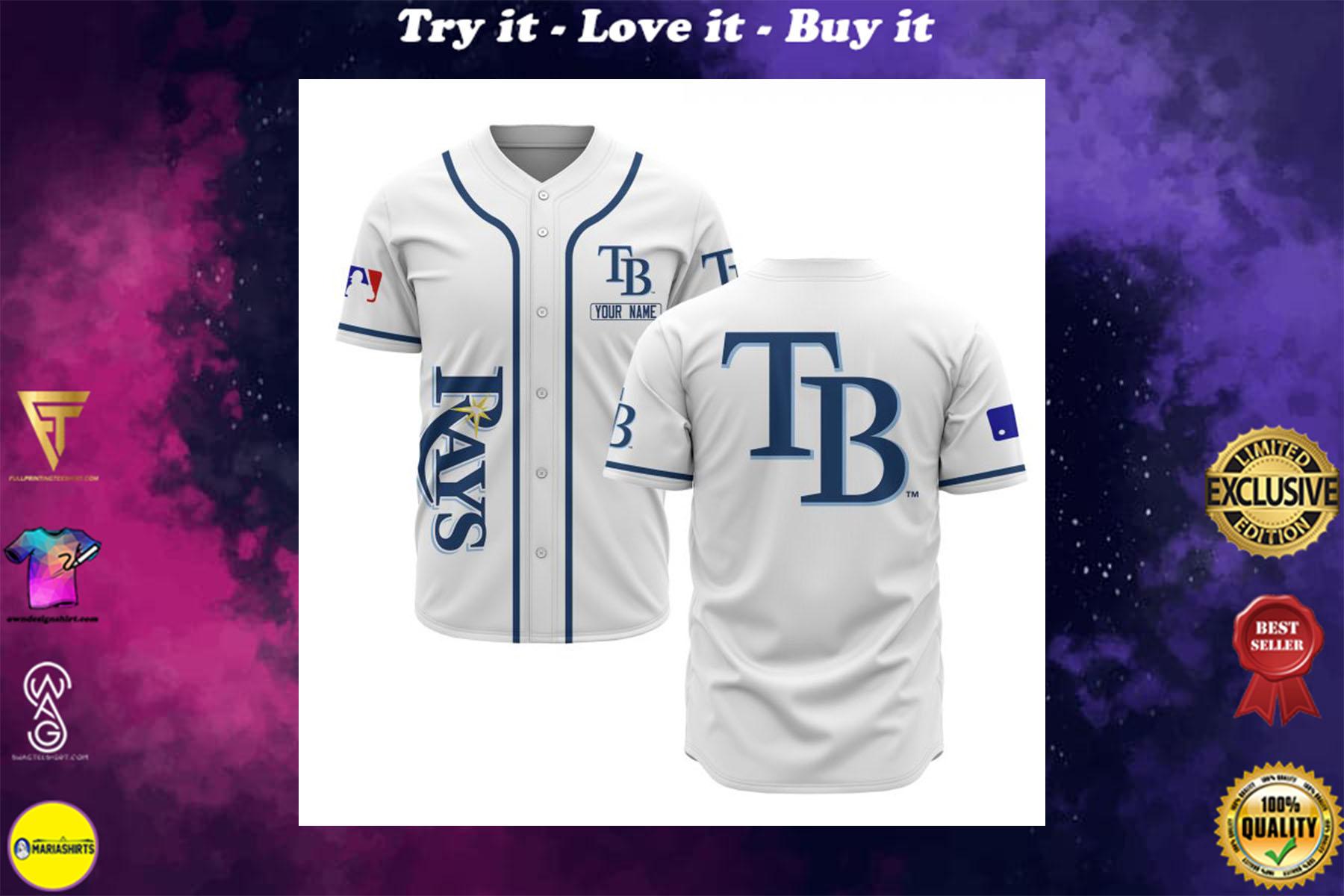custom name tampa bay rays baseball shirt
