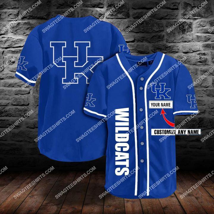 custom name the kentucky wildcats team full printing baseball jersey 1(1) - Copy