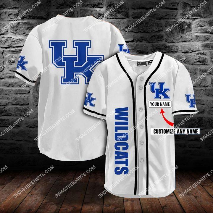 custom name the university of kentucky wildcats full printing baseball jersey 1(1) - Copy - Copy