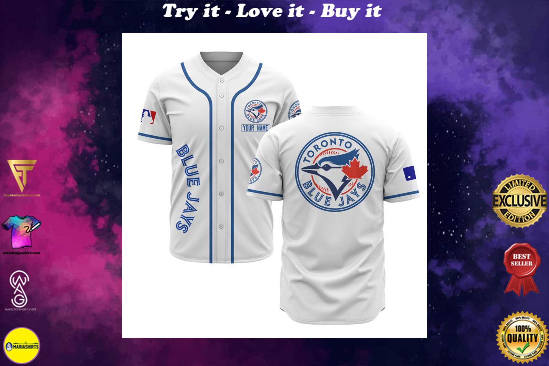custom name toronto blue jays baseball shirt