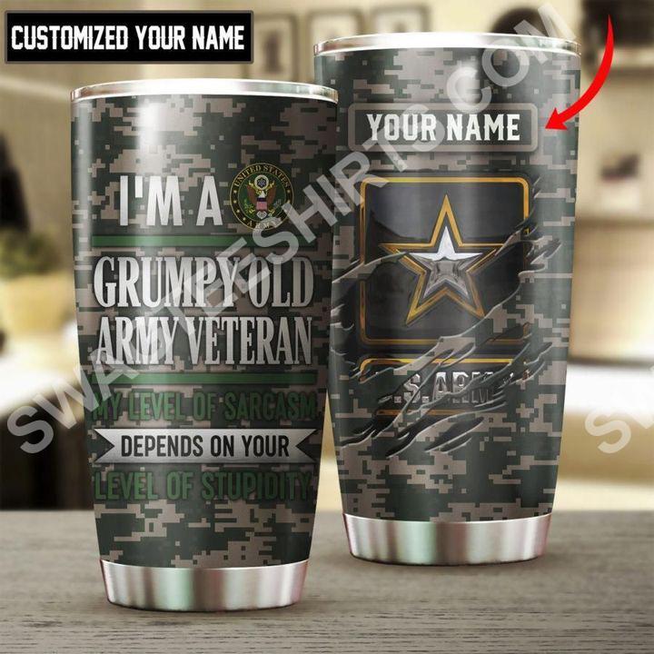 custom name us army veteran all over printed stainless steel tumbler 2(3) - Copy
