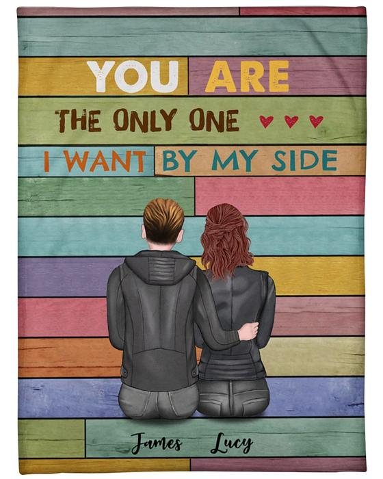custom name you are the only one i want by my side blanket 2
